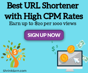 Shrinkearn URl shortener